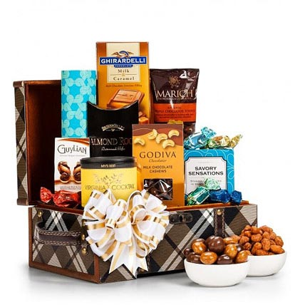 Chocolate and Nuts Gift Chest