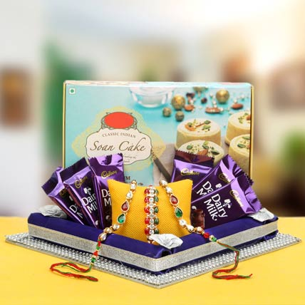 Double Trio Rakhi Hamper