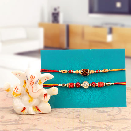 Rakhi and White Ganesha