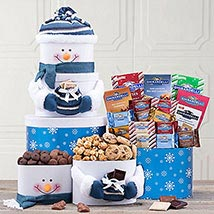 Send gifts to usa online same day gift delivery in usa ferns n deluxe ghirardelli chocolate snowman tower negle Gallery