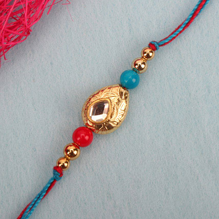 Perfection Kundan Rakhi ZAM